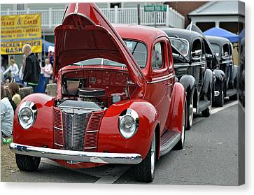 Restored Classic Cars Canvas Print by Susan Leggett