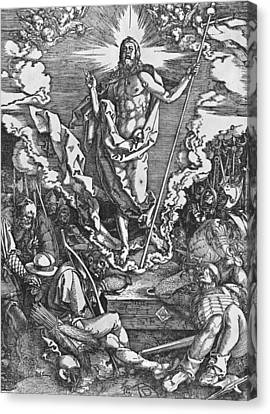 Resurrection Canvas Print by Albrecht Duerer