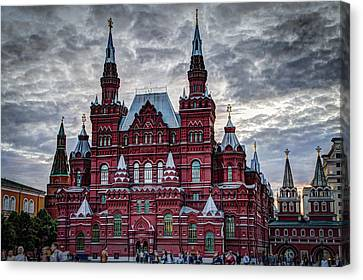 Resurrection Gate And Iberian Chapel - Red Square - Moscow Russia Canvas Print by Jon Berghoff