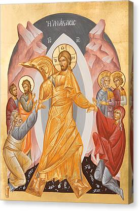 Resurrection Of Christ Canvas Print by Julia Bridget Hayes