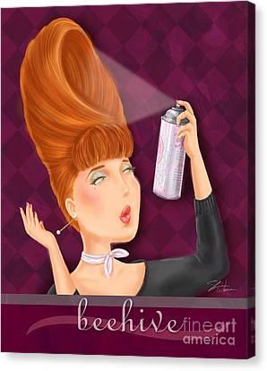 Retro Hairdos-beehive Canvas Print by Shari Warren