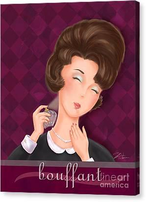 Retro Hairdos-bouffant Canvas Print by Shari Warren