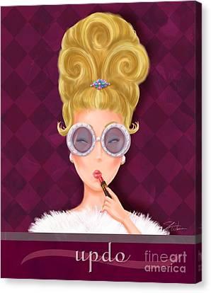 Retro Hairdos-updo Canvas Print by Shari Warren
