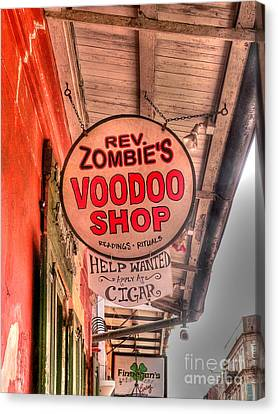 Rev. Zombie's Canvas Print by David Bearden