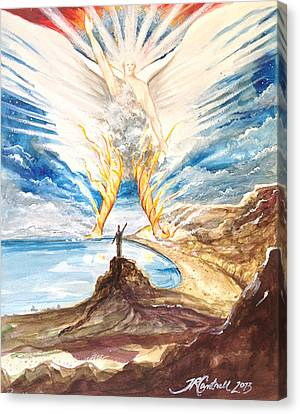 Revelation 10 Angel Canvas Print by Ron Cantrell
