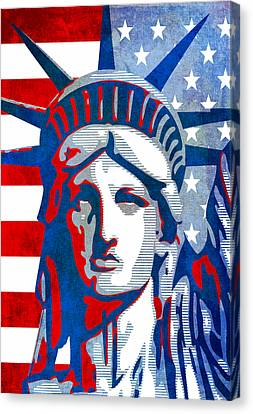 Reversing Liberty 3 Canvas Print by Angelina Vick