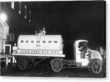 Revolutionary Milk Transport Canvas Print by Underwood Archives