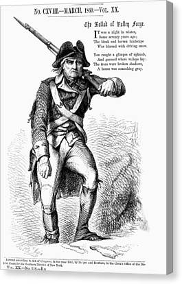Revolutionary Soldier Canvas Print by Granger