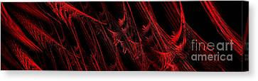 Rhapsody In Red H - Panorama - Abstract - Fractal Art Canvas Print by Andee Design
