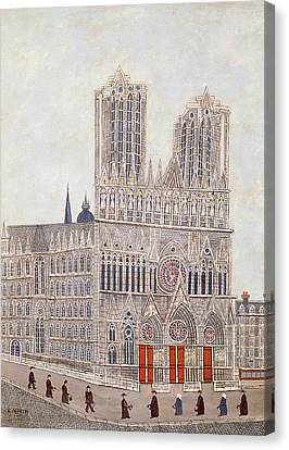 Rheims Cathedral, C.1923 Oil On Canvas Canvas Print by Louis Vivin