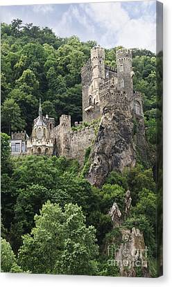 Rheinstein Castle Canvas Print by Oscar Gutierrez