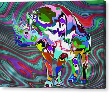 Rhino - Abstract 2 Canvas Print by Jack Zulli