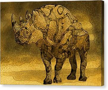 Rhino - Abstract Canvas Print by Jack Zulli