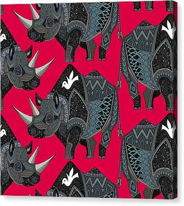 Rhinoceros Red Canvas Print by Sharon Turner