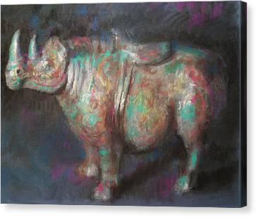 Rhinocerus Canvas Print by Paez  Antonio