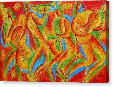 Rhythm And Blues Canvas Print by Leon Zernitsky