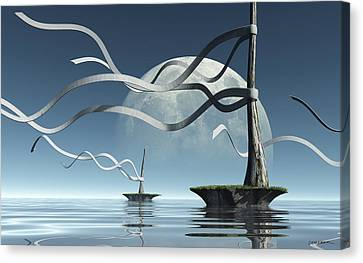 Ribbon Island Canvas Print by Cynthia Decker
