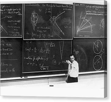 Richard Feynman Canvas Print by Us Department Of Energy