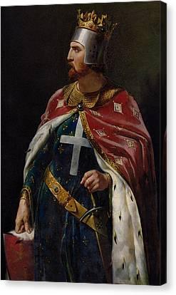 Richard I The Lionheart Canvas Print by Merry Joseph Blondel
