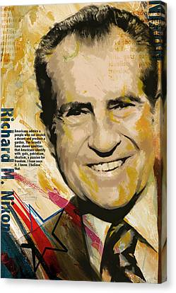 Richard Nixon Canvas Print by Corporate Art Task Force