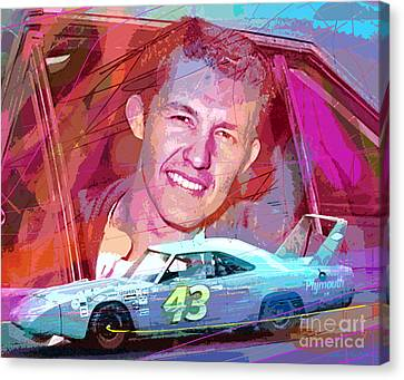 Richard Petty Superbird Canvas Print by David Lloyd Glover