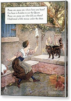 Richardson: Pussy Cat Canvas Print by Granger