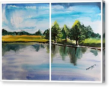 Richmond Park Canvas Print by Shakhenabat Kasana