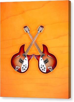 rickenbacker 12-S guitar Canvas Print by Doron Mafdoos