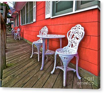 Rick's Porch Canvas Print by Mark Miller