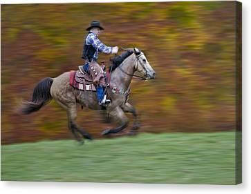 Ride Em Cowboy Canvas Print by Susan Candelario