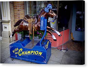 Ride The Champion Canvas Print by Garry Gay