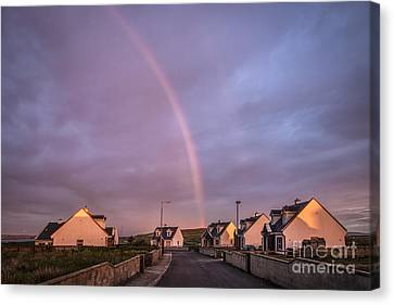 Ride To The Rainbow's End Canvas Print by Evelina Kremsdorf