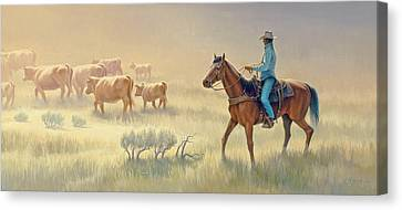 Riding Drag Canvas Print by Paul Krapf