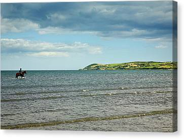 Riding Out On The Cunnigar, Dungarvan Canvas Print by Panoramic Images