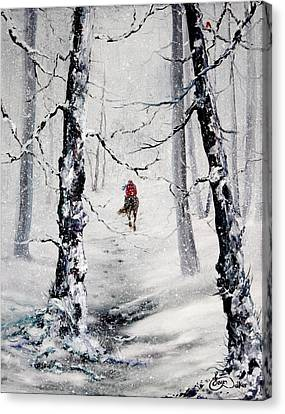 Riding The Storm Canvas Print by Jean Walker