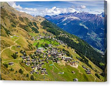 Riederalp Valais Swiss Alps Switzerland Europe Canvas Print by Matthias Hauser