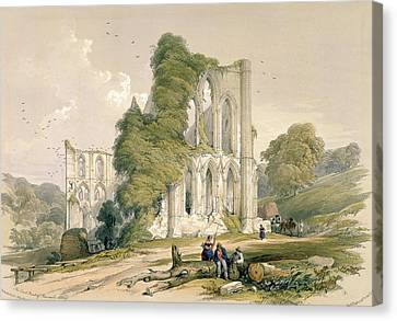 Rievaulx Abbey, From The East Front Canvas Print by William Richardson