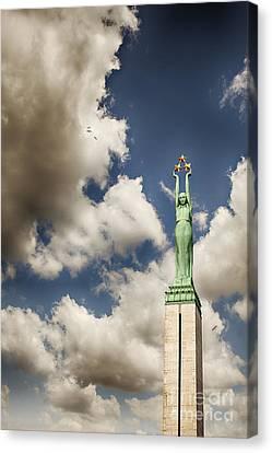 Riga Freedom Monument Canvas Print by Sophie McAulay