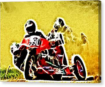 Right Hand Sidecar Outfit Canvas Print by Sharon Lisa Clarke