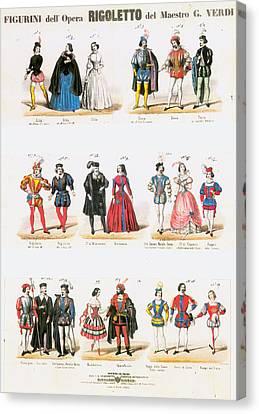 Rigoletto Costumes, 1851 Canvas Print by Granger
