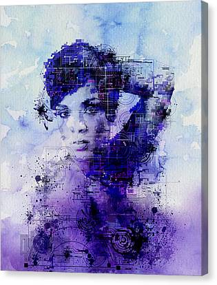 Rihanna 2 Canvas Print by Bekim Art