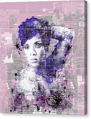 Rihanna 3 Canvas Print by Bekim Art