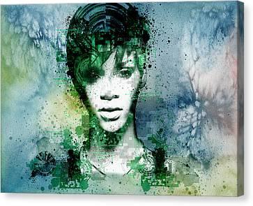 Rihanna 4 Canvas Print by Bekim Art