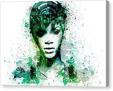 Rihanna 5 Canvas Print by Bekim Art