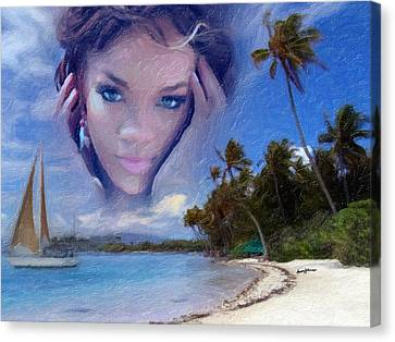 Rihanna Canvas Print by Anthony Caruso