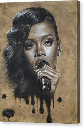 Rihanna Dripping Talent  Canvas Print by Fithi Abraham