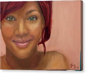 Rihanna Canvas Print by Guy Elhanani
