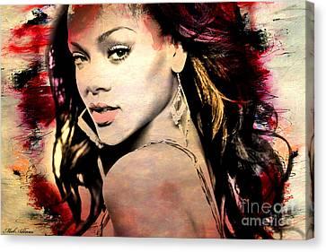 Rihanna Canvas Print by Mark Ashkenazi