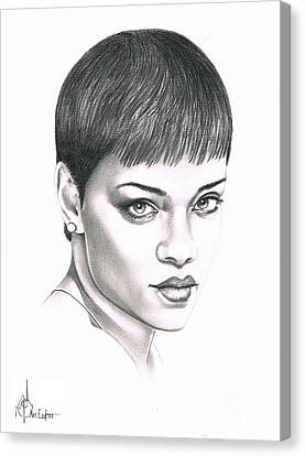 Rihanna Canvas Print by Murphy Elliott