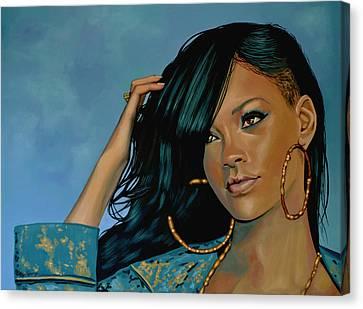Rihanna Painting Canvas Print by Paul Meijering